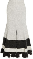 Proenza Schouler Tasseled Stretch-bouclé Midi Skirt - White