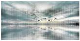 """Parvez Taj Birds Skylight Wall Art - 36"""" x 18"""""""