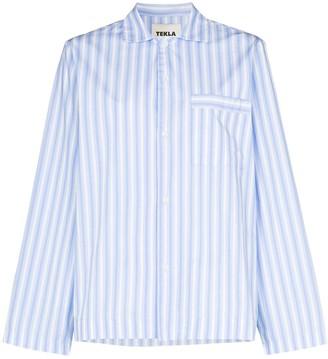 Tekla Striped Organic Cotton Pyjama Shirt