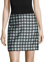 Diane von Furstenberg Women's Jenny Checked Mini Skirt