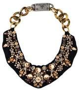 Prada Crystal Collar Necklace