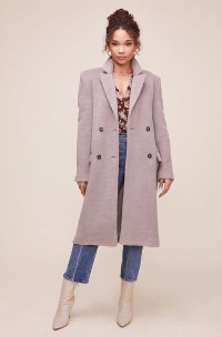ASTR the Label The Blair Coat In Taupe - XS