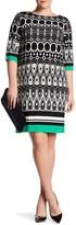 Sandra Darren Printed Shift Dress (Plus Size)