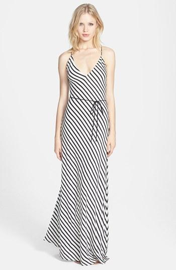 Dolce Vita Linen & Cotton Stripe Maxi Dress