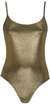 Marie France Van Damme Brasserie Nageur Metallic Swimsuit