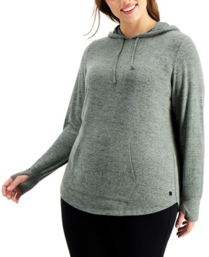 Ideology Plus Size Thumb-Hole Hoodie