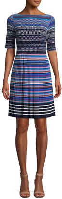 Maggy London Boatneck A-Line Dress