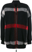 Marcelo Burlon County of Milan checked bomber jacket