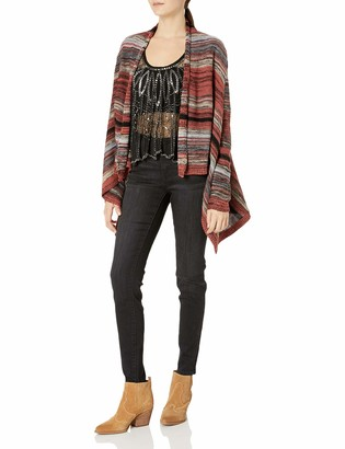 Angie Women's Multi Striped Cardigan Sweater