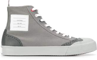 Thom Browne Vulcanised Hi-Top Brogued Trainer