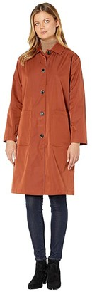 Bernardo Fashions Water Resistant Raincoat (Dark Tumeric Orange) Women's Coat