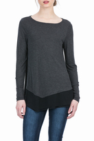 Lilla P Long Sleeve Asymmetrical Boatneck