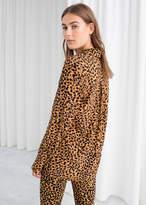 Leopard Print Button Down Shirt