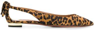 Aquazzura Deneuve leopard-print slingback shoes