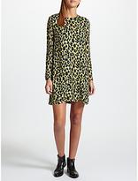 Samsoe & Samsoe Marice Animal Print Dress, Leopard Jaune