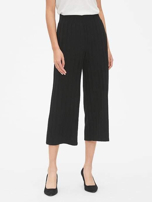 Gap Softspun Ribbed Crop Wide-Leg Pants