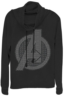 Fifth Sun Women's Sweatshirts and Hoodies BLACK - Avengers Black Endgame Gray Scale Logo Cowl Neck Pullover - Women, Juniors & Plus
