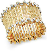 INC International Concepts Gold-Tone Crystal-Trim Stretch Cuff Bracelet, Only at Macy's