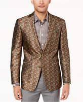 Tallia Orange Men's Big & Tall Modern-Fit Brown Floral Dinner Jacket