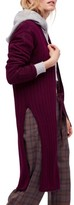 Free People Women's Ribby Long Cardigan