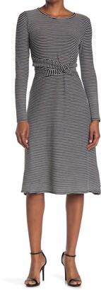 Max Studio Stripe A-Line Dress