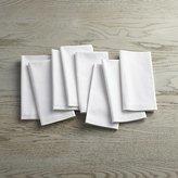 Crate & Barrel Fete White Cloth Napkins, Set of 8