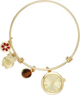 Arizona Womens Gold Tone Bangle Watch