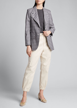 Thom Browne Buffalo-Checked Wide-Lapel Suiting Jacket