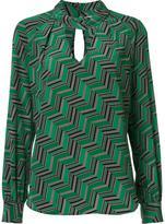 Trina Turk geometric pattern blouse
