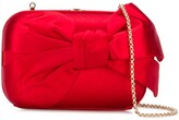 Valentino Pre Owned 2000s bow detail chain clutch