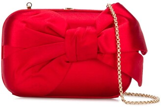Valentino Pre-Owned 2000s bow detail chain clutch
