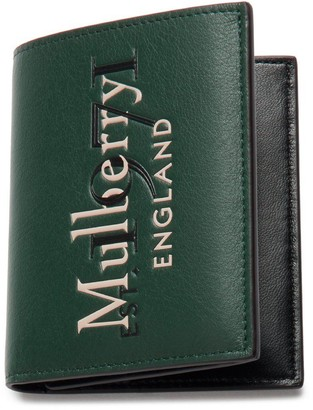 Mulberry Trifold Wallet Green Silky Calf