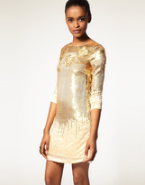 Halston Embellished Dress