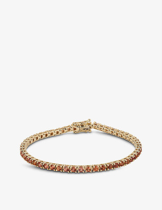 Roxanne First Chunky Tennis orange sapphire and 14ct yellow-gold bracelet