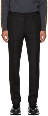Fendi Black Shiny Gabardine Trousers