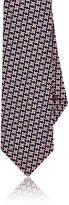 Barneys New York Men's Geometric-Pattern Silk Jacquard Necktie