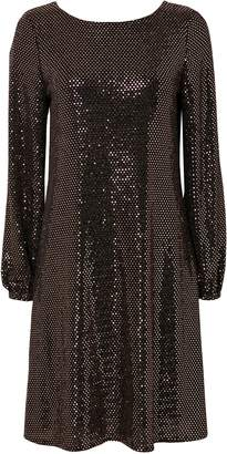 Wallis Bronze Sparkle Swing Dress