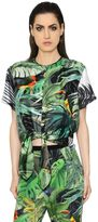 Max Mara Tropical Print Silk Twill Top