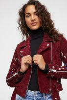 Driftwood Embroidered Suede Moto by at Free People
