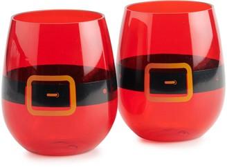 Haynes Besco Acrylic Santa Clause Wine Tumbler 2 pc. Set
