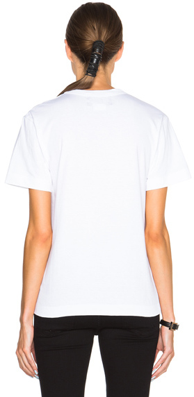 Comme des Garcons Yellow Submarine Cotton Tee in White.