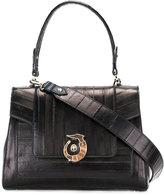 Trussardi snakeskin and calf leather shoulder bag