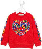 Stella McCartney heart print sweatshirt - kids - Cotton/Viscose - 24 mth