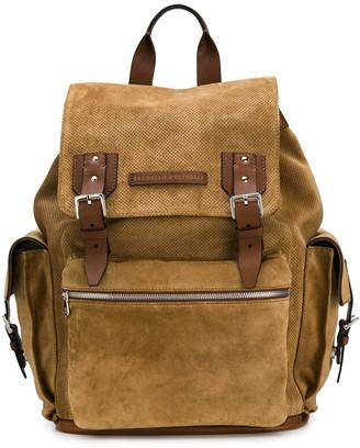 Brunello Cucinelli buckle backpack