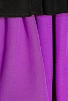 Marni Ruffled color-block silk-crepe dress