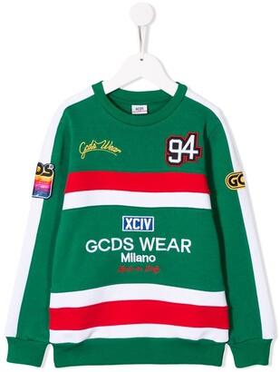 Gcds Kids Patch Logo Sweatshirt