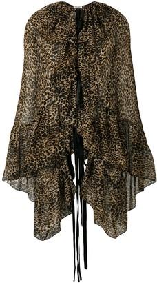 Saint Laurent leopard print blouse
