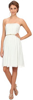 Donna Morgan Donna Strapless Belted Chiffon Dress