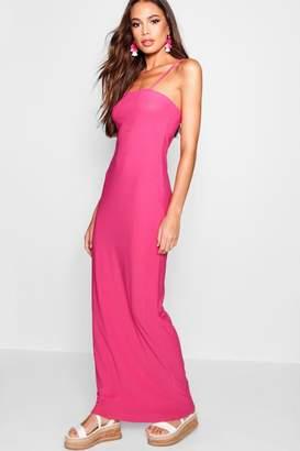 boohoo Square Neck Cami Strap Maxi Dress