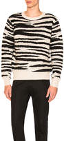 Stussy Zebra Mohair Sweater in Black & White. - size L (also in M,S,XL)